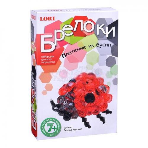 Плетение из бусин Божья коровка (Бус-035) купить недорого в Москве с доставкой по России
