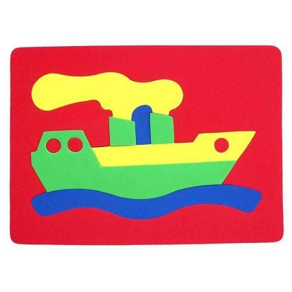 Конструктор Мягкий Кораблик (игрушка для ванной) (063551к)