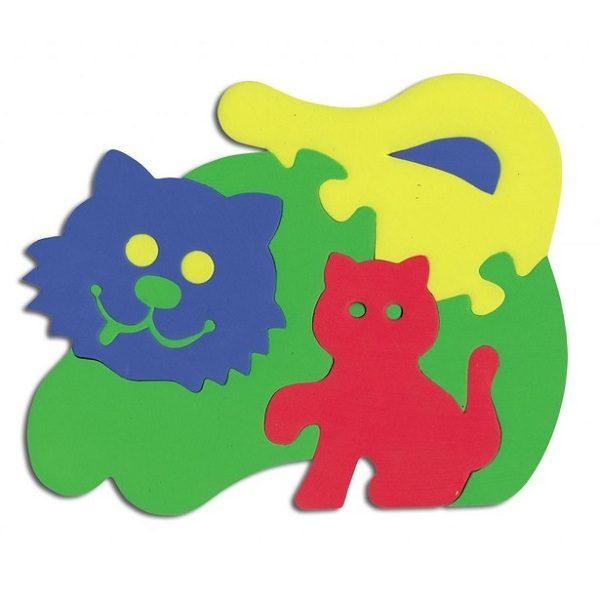 Мягкий Конструктор Кошечка с котенком (103066)
