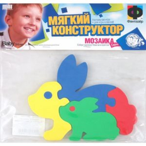 Мягкий Конструктор Зайчик с зайчонком (103062)