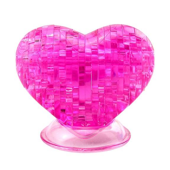 Пазл-3D Головоломка Crystal Puzzle Сердце розовое