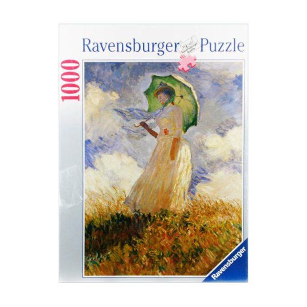 Пазл Ravensburger: Клод Моне Женщина под зонтом (1000 деталей)