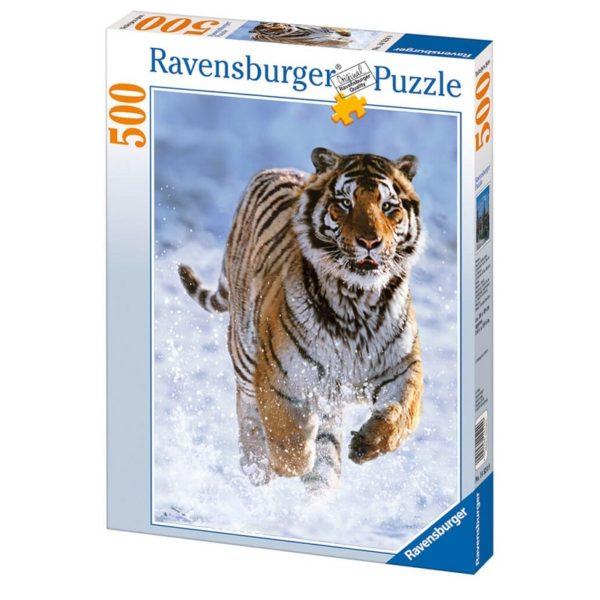 Пазл Ravensburger: Тигр на снегу (500 деталей) (14475)