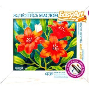 Набор для рисования масляными красками «Лилии»