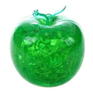 Пазл-3D Головоломка Crystal Puzzle Зеленое яблоко