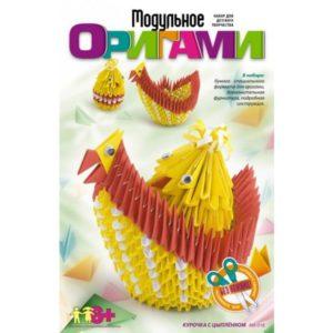 Модульное оригами Курочка с цыпленком (Мб-018) купить недорого в интернет-магазине игрушек с доставкой по Москве. Инструкция, полные характеристики, отзывы, скидки.