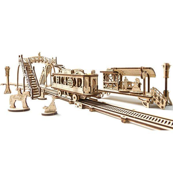 Конструктор-головоломка Ugears — Трамвайная линия