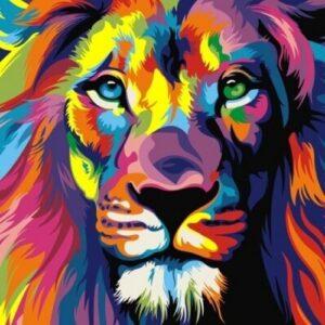 Картина по номерам Радужный лев