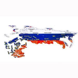 Магнитный географический пазл Россия(1018)