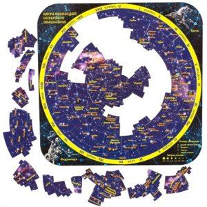 Магнитный пазл Карта созвездий северного полушария(1026)
