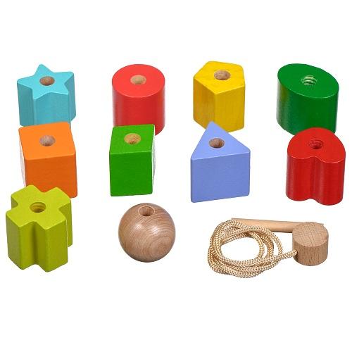 Развивающий набор Бусы Геометрия(Д389)