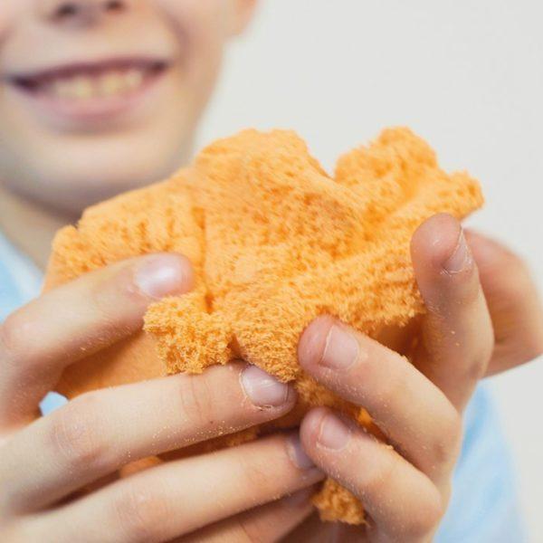 Кинетический пластилин Zephyr с блестками Оранжевый