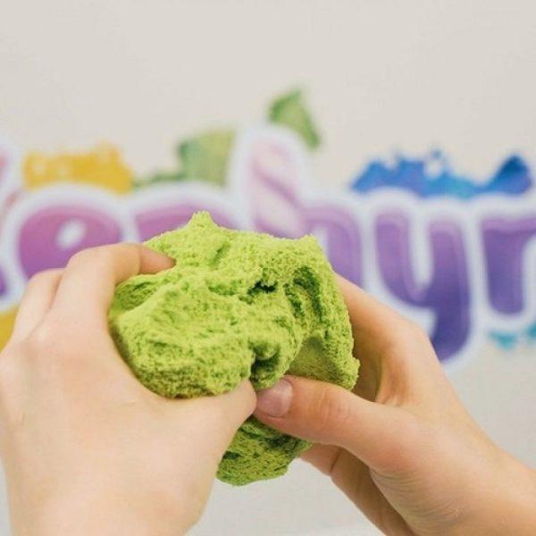 Кинетический пластилин Zephyr с неоновыми блестками Зеленый
