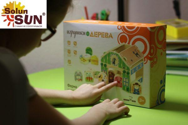Купить Развивающий Игровой набор-конструктор Ферма(Д432) по выгодной цене в интернет-магазине детских игрушек Solunsun.ru