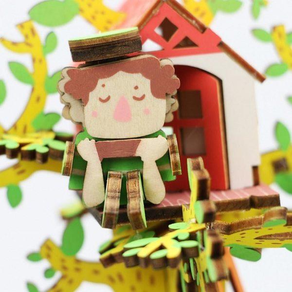 Деревянный 3D конструктор - музыкальная шкатулка Robotime Дом на дереве - купить по выгодной цене с доставкой по всей России, в магазине детских игрушек.