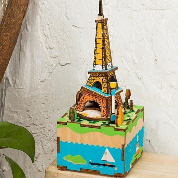 Деревянный 3D конструктор - музыкальная шкатулка Robotime Эйфелева башня - характеристики, описание, отзывы и инструкция. Купить по выгодной цене в Москве, с быстрой доставкой по всей России.