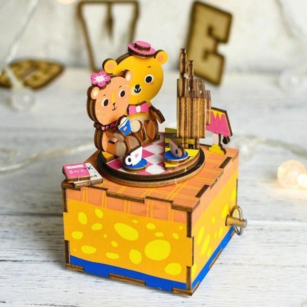 Деревянный 3D конструктор - музыкальная шкатулка Robotime История любви - инструкция, описание, характеристики и отзывы. Купить дешево, с доставкой по Москве, самовывоз, пункты выдачи, доставка почтой.