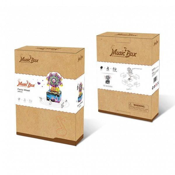 Деревянный 3D конструктор - музыкальная шкатулка Robotime Колесо обозрения - купить в интернет магазине детских развивающих игрушек, подарков, товаров для хобби и детского творчества по выгодной цене.