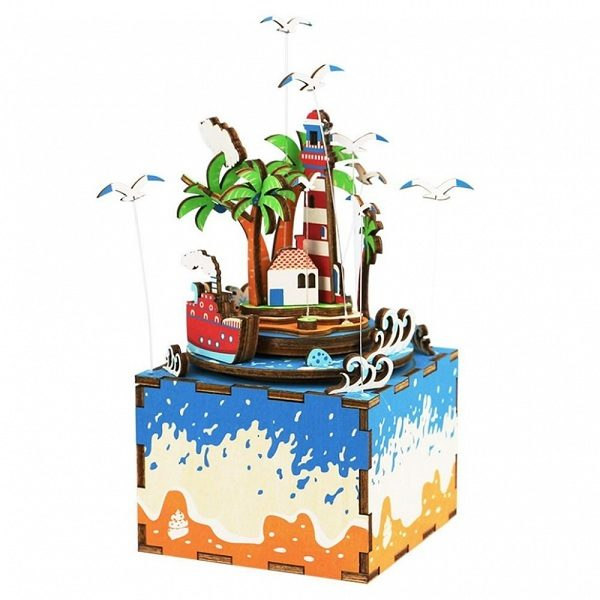Деревянный 3D конструктор - музыкальная шкатулка Robotime Курортный остров - характеристики, описание, отзывы и инструкция. Купить по выгодной цене в Москве, с быстрой доставкой по всей России.