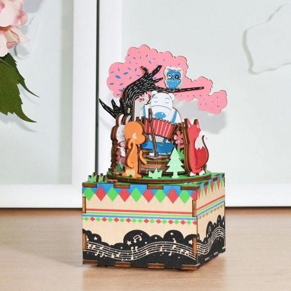 Деревянный 3D конструктор - музыкальная шкатулка Robotime Лесной концерт - купить по выгодной цене с доставкой по всей России, в магазине детских игрушек.