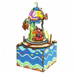 Деревянный 3D конструктор - музыкальная шкатулка Robotime Под водой - купить в интернет магазине детских развивающих игрушек, подарков, товаров для хобби и детского творчества по выгодной цене.