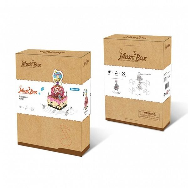 Деревянный 3D конструктор - музыкальная шкатулка Robotime Принцесса - инструкция, описание, характеристики и отзывы. Купить дешево, с доставкой по Москве, самовывоз, пункты выдачи, доставка почтой.