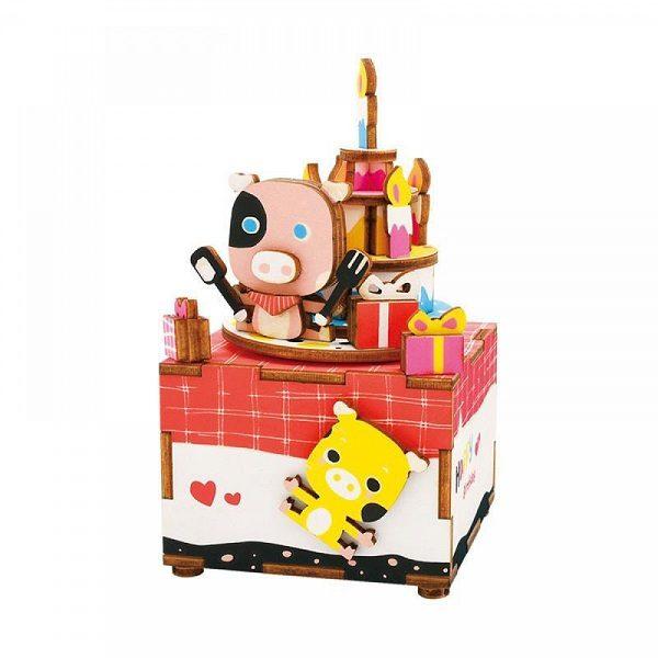 Деревянный 3D конструктор - музыкальная шкатулка Robotime Сладкоежка - купить по выгодной цене с доставкой по всей России, в магазине детских игрушек.