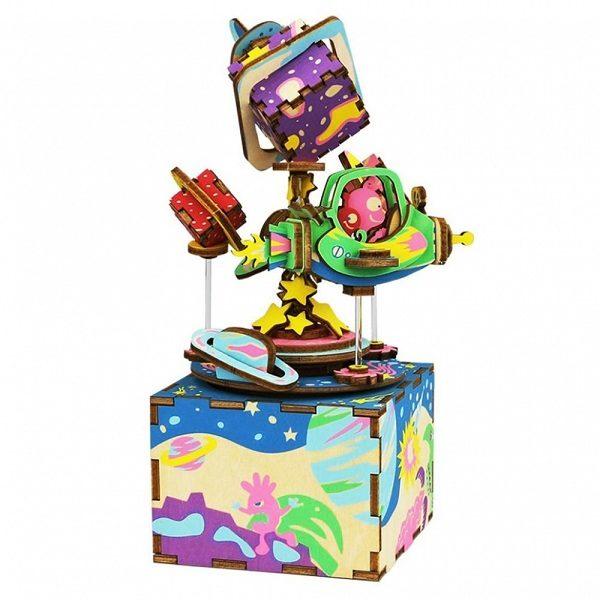 Деревянный 3D конструктор - музыкальная шкатулка Robotime Вселенная - характеристики, описание, отзывы и инструкция. Купить по выгодной цене в Москве, с быстрой доставкой по всей России.