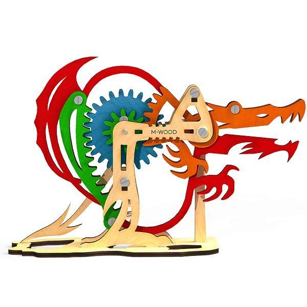 Конструктор 3D деревянный M-Wood Дракон - купить в интернет магазине детских развивающих игрушек, подарков, товаров для хобби и детского творчества по выгодной цене.