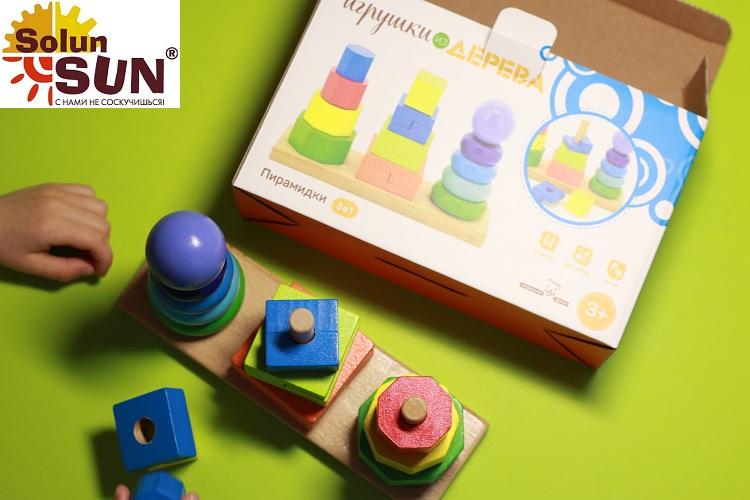 Развивающие пирамидки из дерева(Д037) - купить в интернет магазине детских развивающих игрушек, подарков, товаров для хобби и детского творчества по выгодной цене.