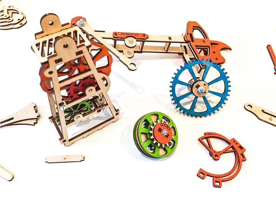 Деревянный конструктор M-Wood сложные механизмы в простом исполнении. Купить дешево конструктор M-Wood в магазине для детей Solunsun.ru по выгодной цене, с доставкой по России