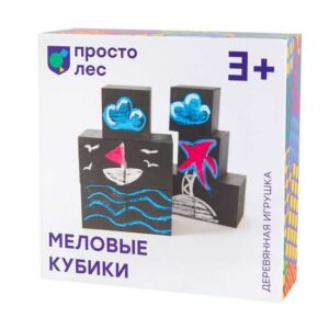 Кубики развивающие меловые Bodobo