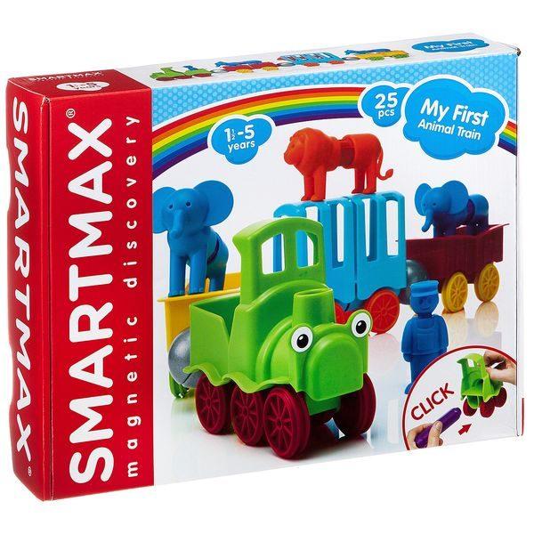 Магнитный конструктор SmartMax Мой Поезд с животными 25 дет. купить недорого в Москве с доставкой