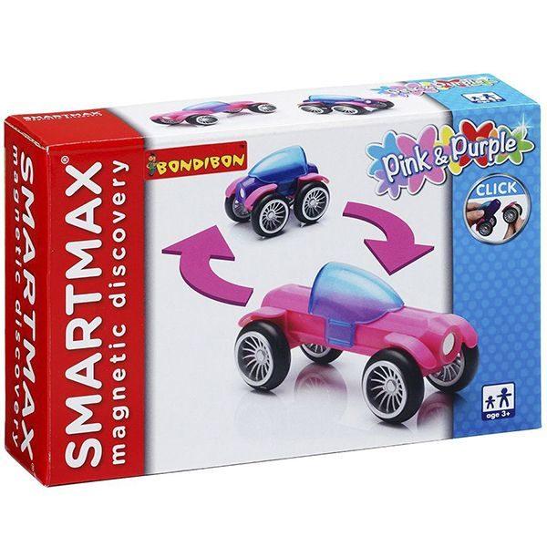 Магнитный конструктор SmartMax Набор: Розовый и Фиолетовый купить недорого в Москве с доставкой