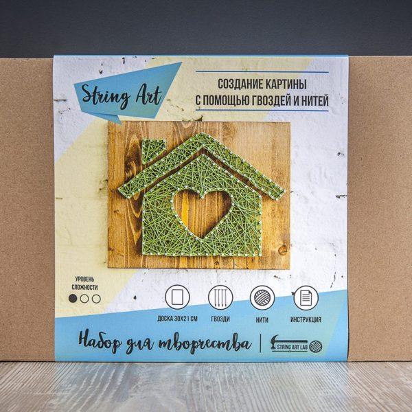 Набор для творчества String Art Картина из ниток Дом 30*21 купить недорого в интернет-магазине игрушек с доставкой по Москве. Инструкция, полные характеристики, отзывы, скидки.