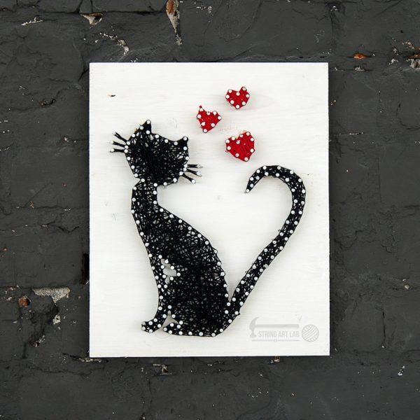 Набор для творчества String Art Картина из ниток Кошка 30*21 купить недорого в интернет-магазине игрушек с доставкой по Москве. Инструкция, полные характеристики, отзывы, скидки.