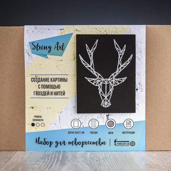 Набор для творчества String Art Картина из ниток Олень (минимализм) 30*21 купить недорого в интернет-магазине игрушек с доставкой по Москве. Инструкция, полные характеристики, отзывы, скидки.
