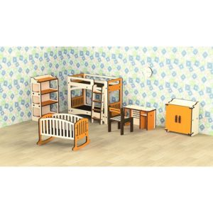 Кукольная мебель деревянная M-Wood Детская