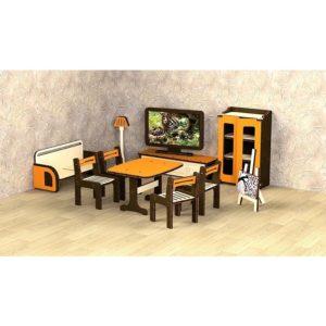 Кукольная мебель деревянная M-Wood Гостиная