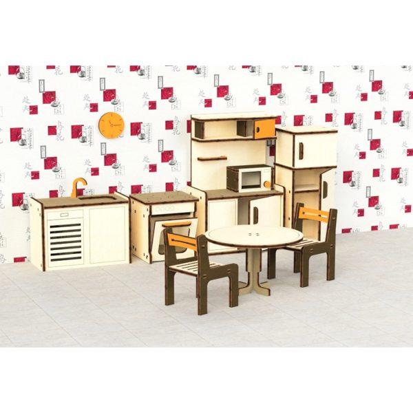 Кукольная мебель деревянная M-Wood Кухня