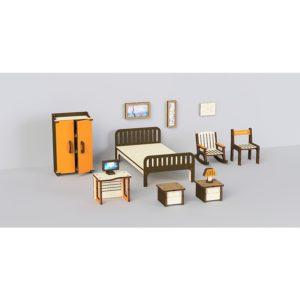 Кукольная мебель деревянная M-Wood Спальня