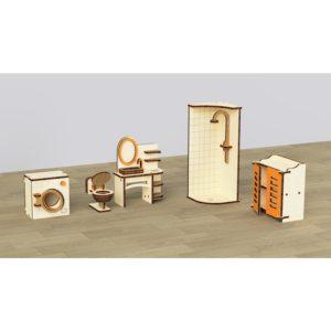 Кукольная мебель деревянная M-Wood Ванная