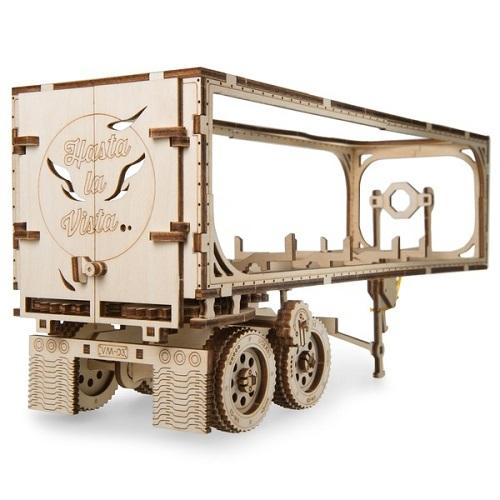 3D-конструктор из дерева Ugears - Полуприцеп к модели Тягач VM-03