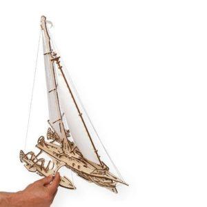 3D-конструктор механический из дерева Ugears - Тримаран Мерихобус