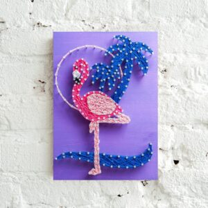 Набор для творчества String Art Картина из ниток Фламинго 30*21