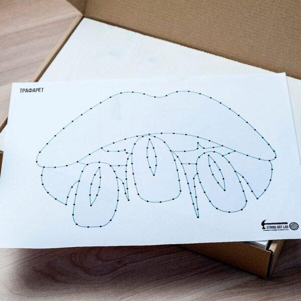 Набор для творчества String Art Картина из ниток Губы 30*21