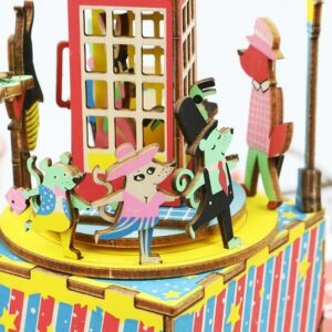 3D конструктор Robotime — музыкальная шкатулка Телефонная будка